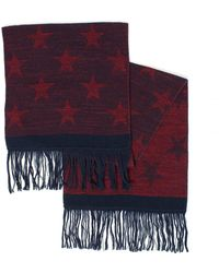 BOSS - Kayst Red Star Scarf - Lyst