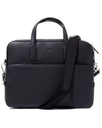 BOSS - Crosstown_s Doc Case Black Leather Shoulder Bag - Lyst