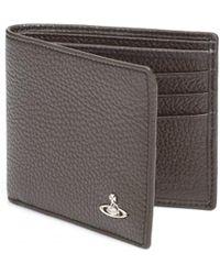 Vivienne Westwood | Grained Leather Billfold Olive Green Wallet | Lyst