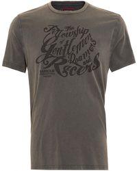 Barbour - International Triumph T-shirt, Gentlemen Graphic Text Charcoal Tee - Lyst