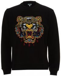 KENZO - Dragon Tiger Sweatshirt, Crew Neck Black Sweat - Lyst