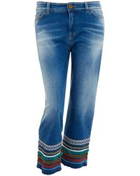 Weekend by Maxmara - Jeans, Cropped Embroidered Denim - Lyst