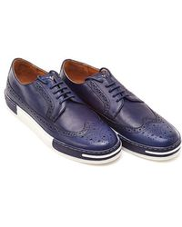 Armani Jeans - Blue Two Tone Lace Up Brogue - Lyst