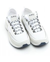 A.P.C. - Alexander Low Top Mesh Trainers - Lyst