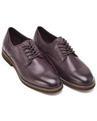 Armani - Aubergine Lace Up Purple Effect Shoes - Lyst
