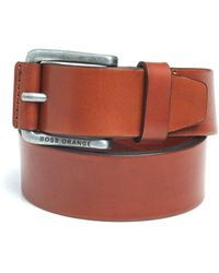BOSS - Jakab Tan Smooth Leather Belt - Lyst