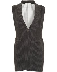 D. EXTERIOR - Pinstripe Knitted Charcoal Grey Waistcoat - Lyst