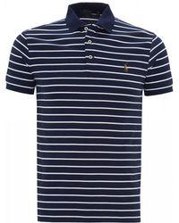 Ralph Lauren - Slim Fit Pima Stripe Mesh Polo Shirt - Lyst