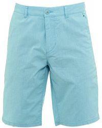 BOSS - Shorts, Aqua Fine Stripe Slim Fit 'lomeo-w' Shorts - Lyst