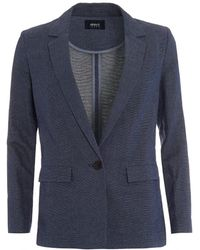 Armani - Jacket, Navy Blue Long Blazer - Lyst