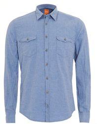 BOSS by Hugo Boss - Edoslime Sky Blue Slim Fit Shirt - Lyst