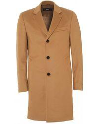 2418ada4905 BOSS - Nye2 Formal Camel Slim Fit Coat - Lyst