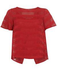 I Blues - Durante Top, Detachable Vest Geranium Red Top - Lyst