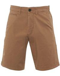 Armani - Chino Shorts Beige Regular Cotton Twill Short - Lyst