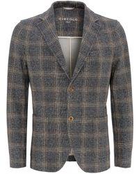 Circolo 1901 - Anthracite Blazer, Double Check Tweed Jacket - Lyst