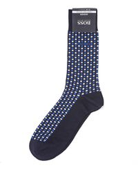 BOSS Black | Rs Design Navy Blue Geometric Sock | Lyst