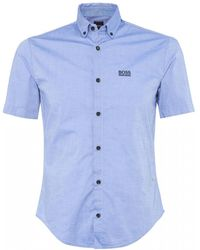 BOSS - Regular Fit Biadia_r Shirt - Lyst