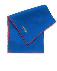 Duchamp | Lido Blue Silk Spot Print Pocket Square | Lyst