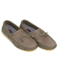 Swims - Braided Lace Lux Loafer, Khaki Faded Lemon Driver Shoes - Lyst