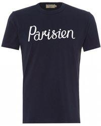 Maison Kitsuné - Maison Kitsuné 'parisien' Print T-shirt - Lyst