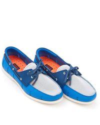 Swims - Boat Loafer Blitz Blue Light Grey Shoe - Lyst