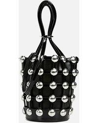 Alexander Wang - Roxy Cage Mini Bucket In Black Patent - Lyst