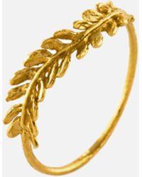 Alex Monroe - Honey Fern Leaf Ring - Lyst