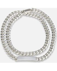Sidney Garber - Silver Chain Necklace With Id Plate - Lyst