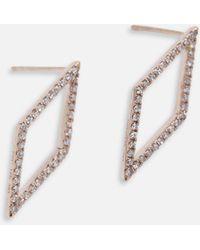 EF Collection - Open Diamond Stud - Lyst