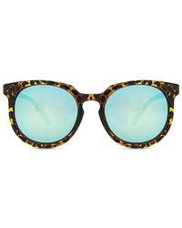 Quay - Don't Change 60mm Round Sunglasses - Tort/ Blue - Lyst