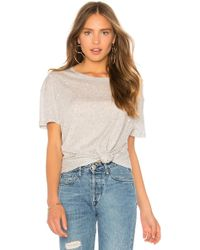 Generation Love - Ava Pearls Top In Gray - Lyst
