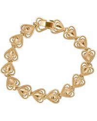 Vanessa Mooney - The Heart Bracelet In Metallic Gold. - Lyst