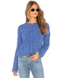 MINKPINK - Chenille Rib Knit Jumper In Blue - Lyst