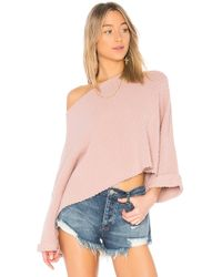 Free People - I Can't Wait Sweater In Rose - Lyst