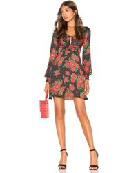 7fdd4a9dc01ac Free People Printed Long Sleeve Bodycon in Black - Lyst