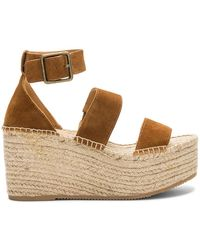77bb32d5fab Soludos Crisscross Wedge Espadrilles in Brown - Lyst