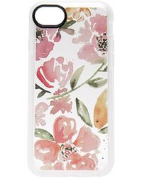 Casetify | Floral Pink Gray Iphone 7 Case | Lyst