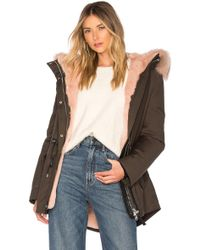 Mackage - Chara Jacket With Fur Trim In Army - Lyst