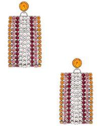 For Love & Lemons - Bianca Crystal Earrings In Metallic Silver. - Lyst