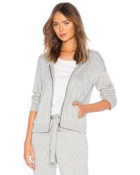 Splendid - Bungalow Zip Hoodie In Grey - Lyst