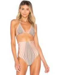Cali Dreaming - Aries Bikini Top In Tan - Lyst