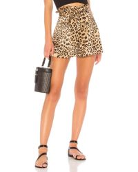 House of Harlow 1960 - X Revolve Leland Short In Brown - Lyst