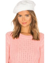 Michael Stars - Fuzzy Beret In White. - Lyst
