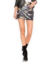 Bobi   Black Sequin Camo Skirt   Lyst