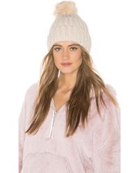 Hat Attack - Chunky Rib Beanie In Ivory. - Lyst