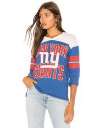 Junk Food - Nfl Giants Football Tee In Blue - Lyst