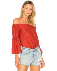1.STATE - Off Shoulder Bell Sleeve Blouse - Lyst