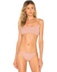 Tori Praver Swimwear - Loria Bralette Top In Mauve - Lyst