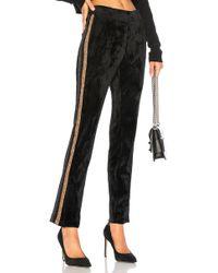Pam & Gela - Velvet Side Slit Track Pant In Black - Lyst