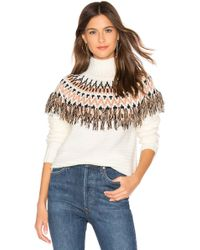 MINKPINK - Wild And Free Fringe Knit Sweater In White - Lyst